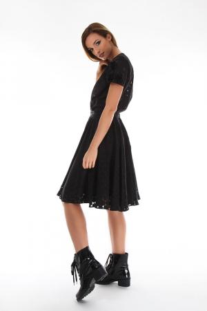 Bluza eleganta neagra cu maneci scurte1