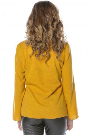 Bluza galbena din jerse cu floare aplicata B1172
