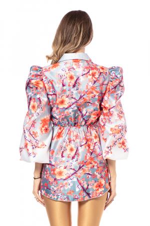 Sacou din tafta One size fits all Cherry Blossom [3]
