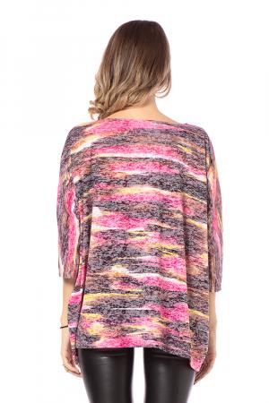 Bluza lejera roz cu maneci trei sferturi [2]