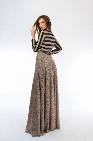 Bluza dama cu maneci lungi din matase Black&Golden1