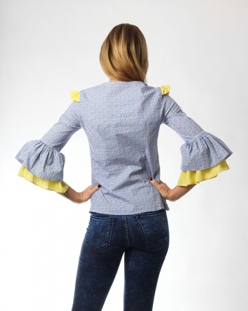 Bluza office cu imprimeu floral1