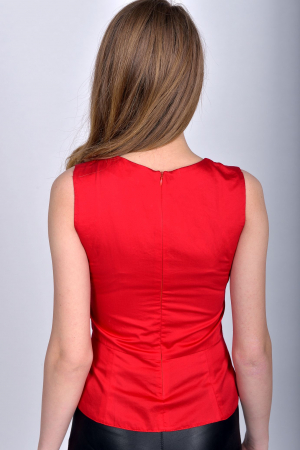 Bluza office fara maneci Red Passion1