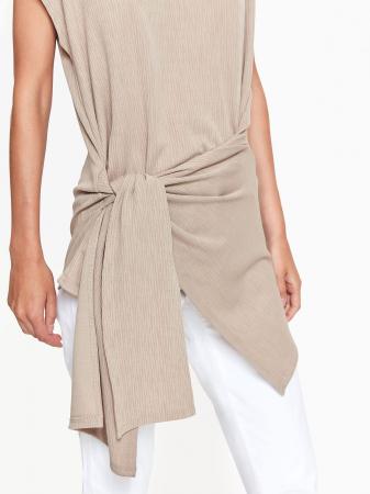 Bluza casual asimetrica fara maneci3