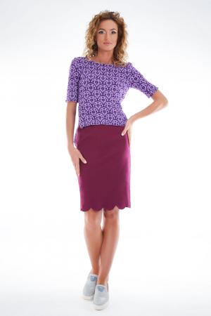 Bluza tricotata asimetrica lila2