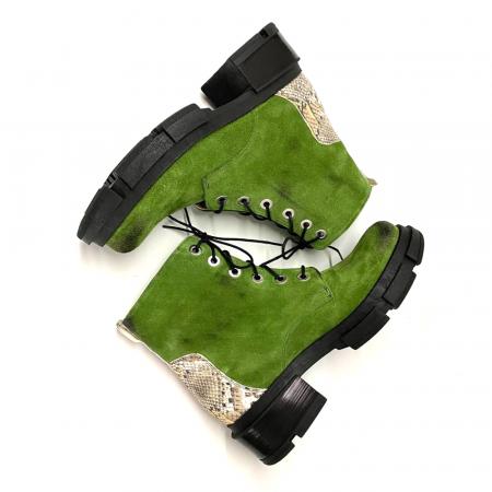 Bocanci dama din piele intoarsa Green Jade2