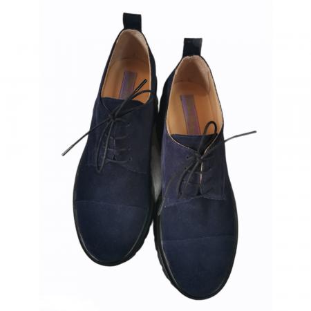 Pantofi dama din piele naturala cu platforma Blue Navy [1]