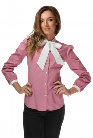 Camasa dama office roz cu funda alba [0]