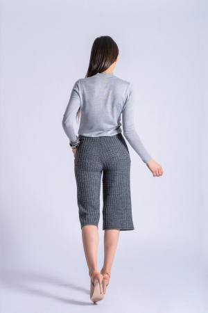 Maleta gri din tricotaj fin Ania1