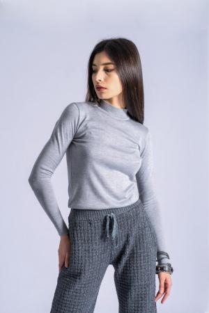 Maleta gri din tricotaj fin Ania0