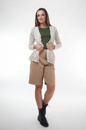 Cardigan dama tricotat Ivory2