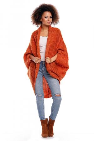Cardigan din mohair Orange1