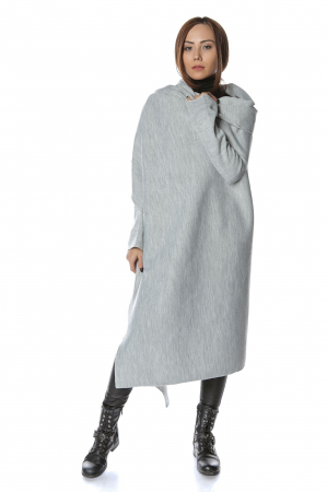 Cardigan lung oversized Gri