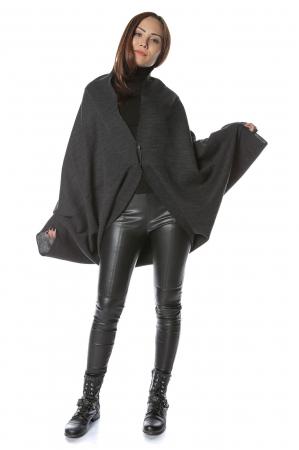 Cardigan scurt oversized Negru2