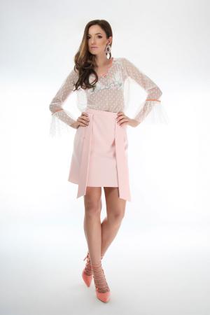 Fusta eleganta cu cordoane decorative Pink