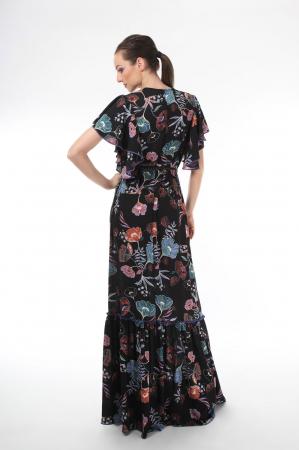 Rochie lunga boho chic cu imprimeu floral1