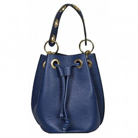 Gentuta tip bucket din piele naturala albastra Alcina0