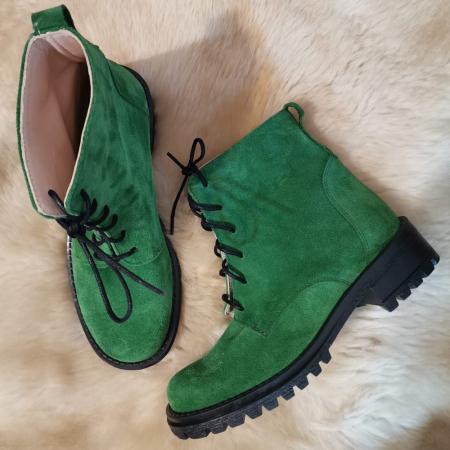 Ghete dama din piele Green Irenne, 350