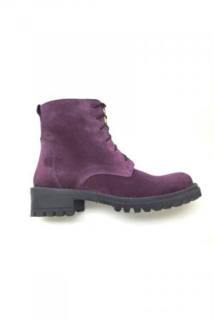 Ghete dama din piele Purple Irenne1