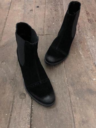 Ghete din piele Dana Black Vintage1
