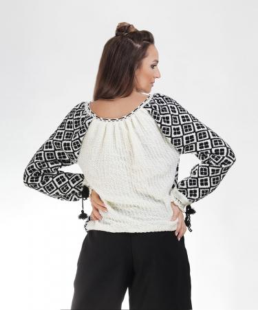IE tricotata cu model negru Onibon1