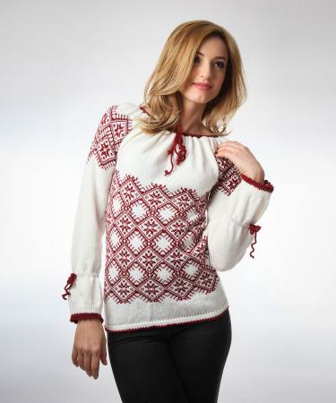 IE tricotata burgundy cu maneci lungi Onibon