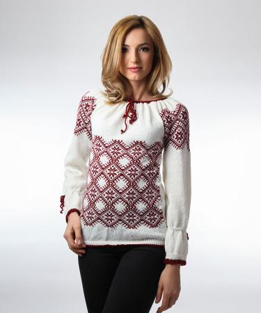 IE tricotata burgundy cu maneci lungi Onibon0