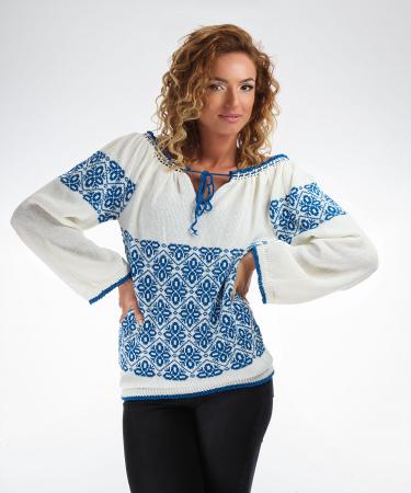IE tricotata cu model albastru Onibon4