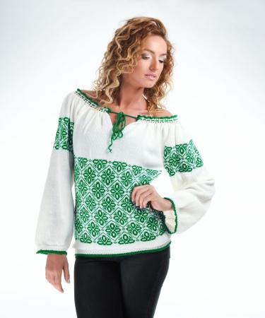 IE tricotata cu model verde smarald Onibon [0]