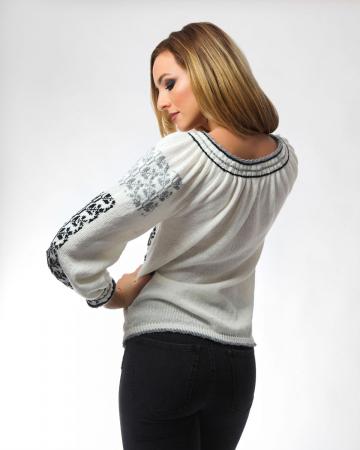 IE tricotata cu model in doua culori si maneci lungi Onibon1