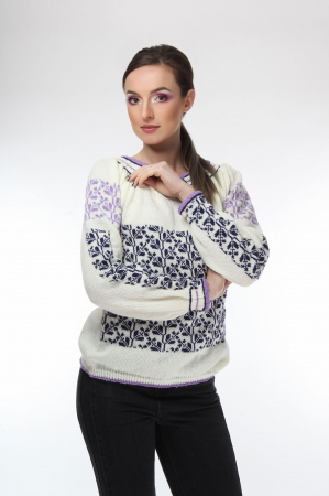 IE tricotata cu model traditional lila indigo Onibon [1]