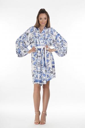 Kimono dama din vascoza cu imprimeu floral [2]