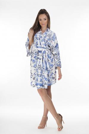 Kimono dama din vascoza cu imprimeu floral [0]