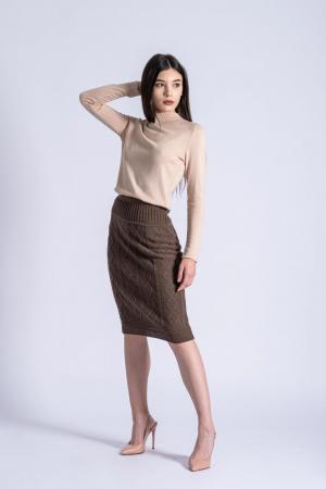 Maleta bej din tricotaj fin Ania1