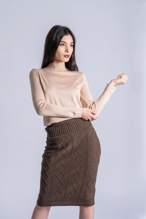 Maleta bej din tricotaj fin Ania0