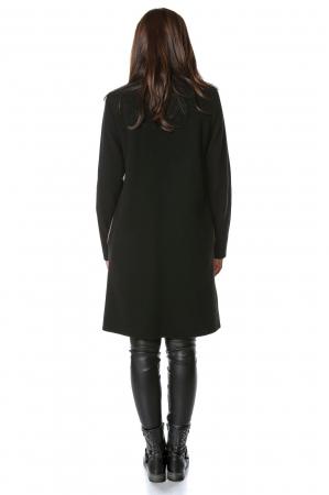 Palton bicolor din stofa de lana Elisa2