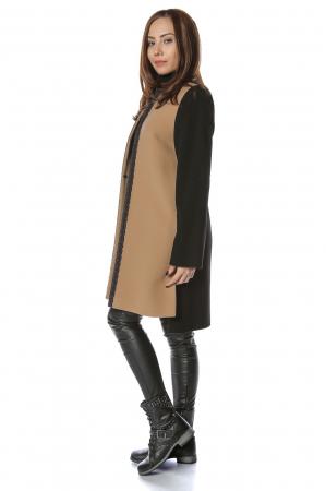 Palton bicolor din stofa de lana Elisa1