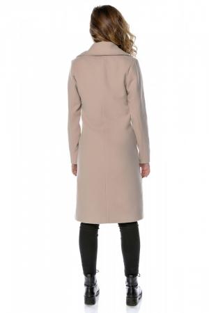 Palton dama din stofa roz pudra cu broderie PF28, M2