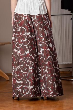 Pantaloni casual palazzo cu imprimeu geometric Miliam4