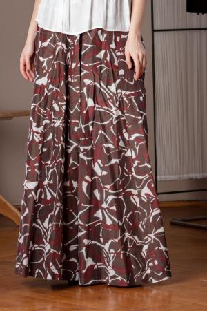 Pantaloni casual palazzo cu imprimeu geometric Miliam1