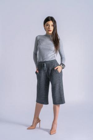 Pantaloni din tricot Wide Leg Grey [0]