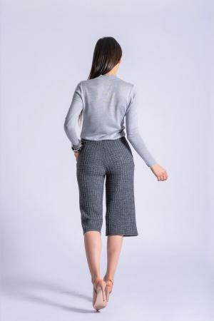 Pantaloni din tricot Wide Leg Grey [1]