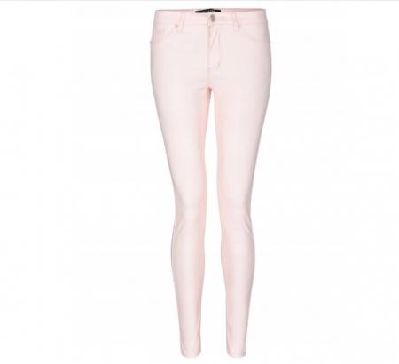 Pantaloni elastici skinny roz cu aspect sidefat, 42 [2]