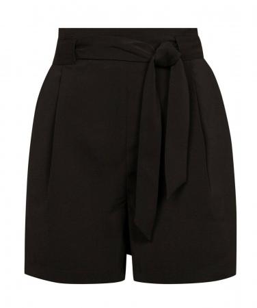 Pantaloni scurti negri cu buzunare4