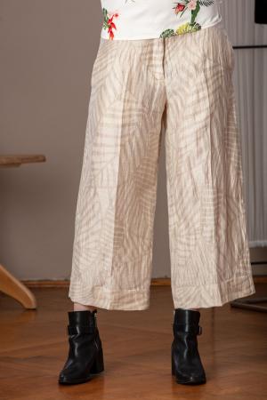 Pantaloni trei sferturi largi din in Edgar