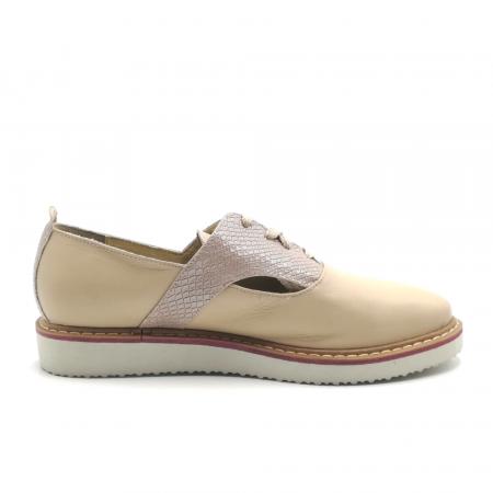 Pantofi dama cu talpa joasa nude din piele naturala2