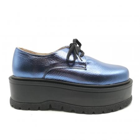 Pantofi dama cu platforma Metal Blue, 360