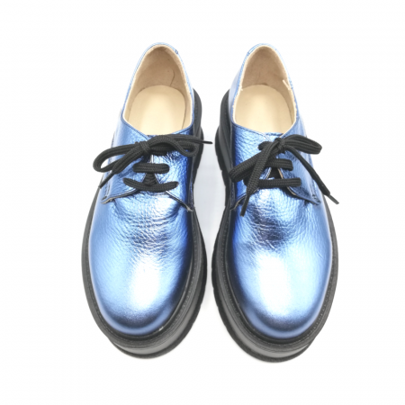 Pantofi dama cu platforma Metal Blue, 363