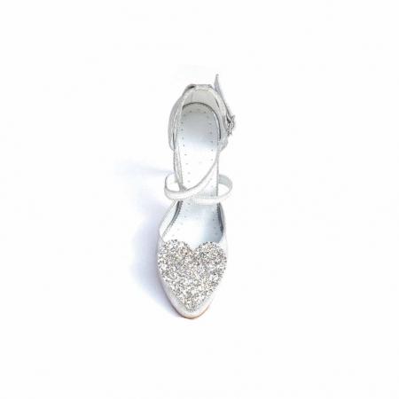 Pantofi dama cu toc Silver Heart din piele naturala3