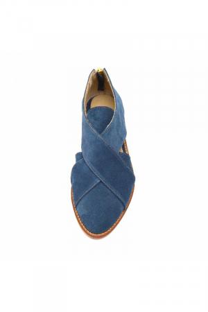 Pantofi dama din piele intoarsa Cross Blue2